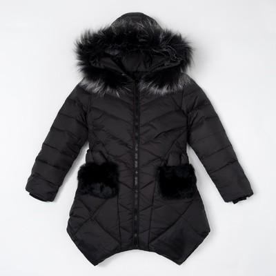 """Куртка для девочки """"Милашка"""", рост 134-140 см, цвет чёрный"""