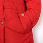"""Куртка удлиненная для девочки """"Золотые пуговки"""", рост 122-128 см, цвет красный"""