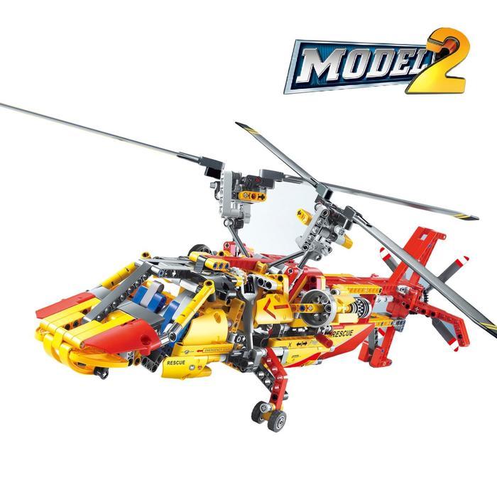 Конструктор техникс «Спасательный вертолёт», 1056 деталей - фото 14394930