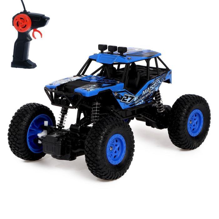 Джип радиоуправляемый «Кросс», работает от батареек, цвет синий