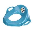 Детская накладка на унитаз «Панда», с ручками, цвет голубой