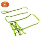 Комплект со светоотражающей лентой, ширина 1 см, поводок 120 см, шлейка 26-40 см, зеленый