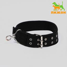 The four-layer collar with swivel, 80 x 4.9 cm, polyester, black
