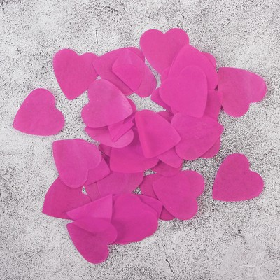 """Наполнитель для шара """"Конфетти сердца"""" 2,4 см, бумага, цвет розовый, 500г"""
