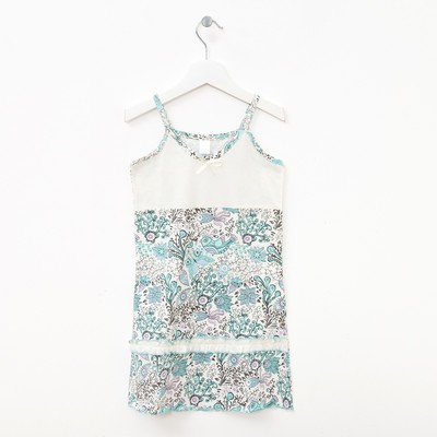 Сорочка для девочек, набивка мята, 146-152 см (42)