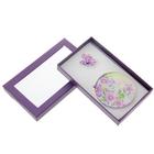 набор подарочный 2в1 в блистере (брошь +зеркало цветы полевые) фиолет16*9см