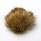 Помпон, искусственный мех, кролик, 14 см (цвет «енот»)