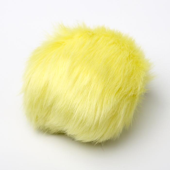 Помпон искусственный мех кролик 14см (лимон)