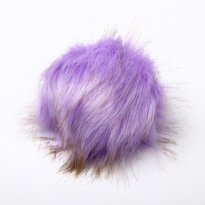 Помпон искусственный мех кролик 14см (сирень)