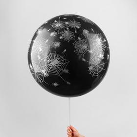 "Latex balloon 36"" ""Spiders"", 1 piece, black"