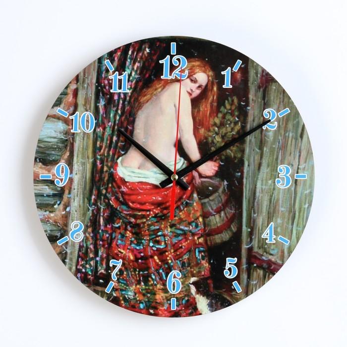 """Часы настенные, серия: Интерьер, для бани """"Девица в бане"""""""