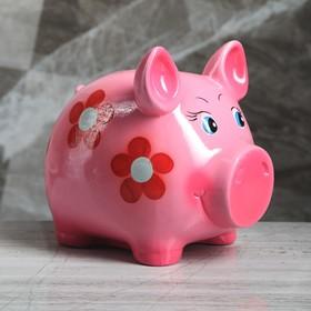 """Копилка """"Свинка"""", глянец, розовый цвет, 19 см"""