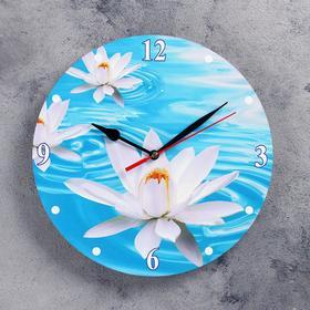 """Часы настенные, серия: Цветы, """"Кувшинка"""", 24 см"""