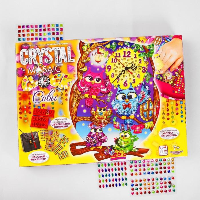 """Набор креативного творчества """"Настольные часы своими руками"""" серии Crystal Mosaic Clock CMC-   38512 - фото 410922"""