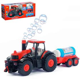 Трактор «Фермер», с мыльными пузырями, работает от батареек, свет и звук