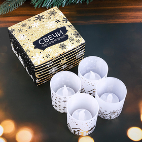 """A set of electronic candles """"Magical New year"""", 4 PCs."""