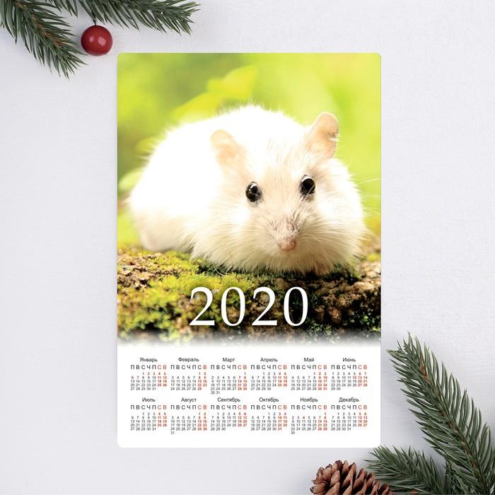 """Календарь-магнит """"С Новым Годом!"""" 12х8см, мандарины"""