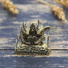 """Mouse figurine """"Happiness and love"""", brass, 3.5 x 3.1 cm"""