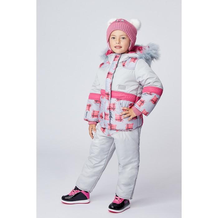 Комплект для девочки «МУР-МУР», цвет жемчужный, рост 104 см