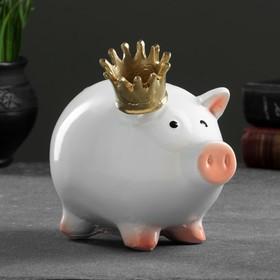 """Копилка """"Свинка принцесса"""" 15х12х17см"""
