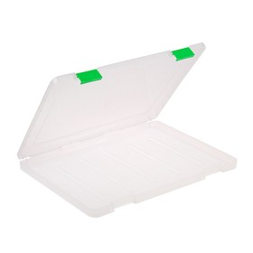 A4 document container, with color latches, transparent.