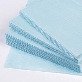 Салфетки ламинированные стоматологические, косметологические, 33х45 см, салатовые, голубые,