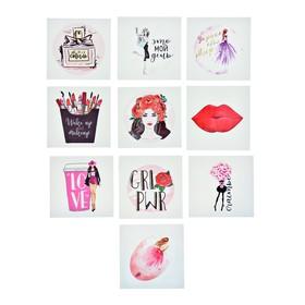 Наклейки стикеры Girls power, 7 × 7 см Ош