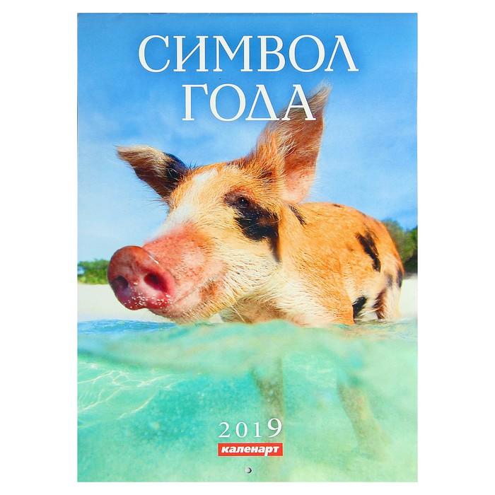 "Календарь на скрепке ""Символ года - 3"" 2019 год, 21,5х29,5см"