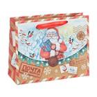 Пакет крафтовый горизонтальный «Почта от Деда Мороза», 23 × 18 × 8 см