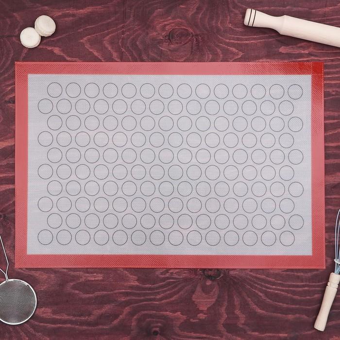 Коврик армированный для макаронс 40×60 см