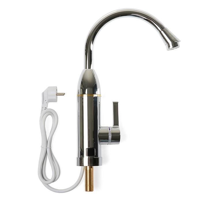 Кран-водонагреватель UNIPUMP BEF-016-03, проточный, 3000 Вт, max нагрев до 60 С, серый