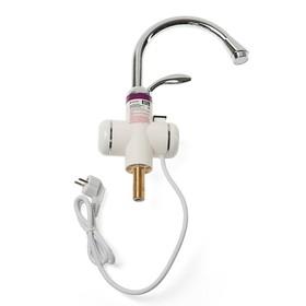 Кран-водонагреватель UNIPUMP BEF-017, проточный, 3000 Вт, max нагрев до 60 С, белый