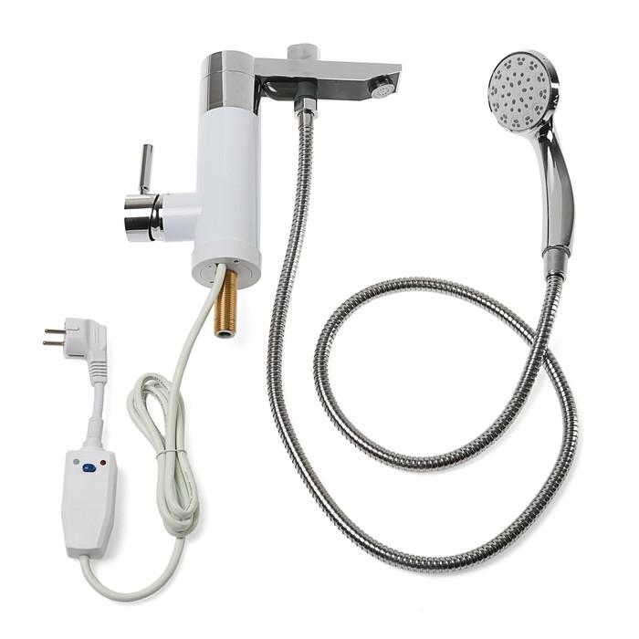 Кран-водонагреватель UNIPUMP BKF-015, проточный, 3000 Вт, душевая лейка, УЗО