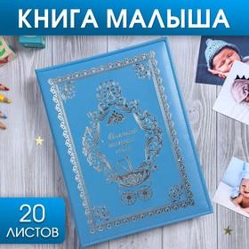 """Книга малыша для мальчика """"Маленький наследник семьи"""": 20 листов"""