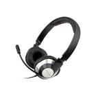 Наушники с микрофоном Creative HS-720, 2м, накладные, USB, оголовье, цвет серебристый-черный
