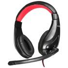 Наушники с микрофоном Oklick HS-L100 2м мониторы оголовье (NO-530) черный/красный
