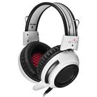 Наушники с микрофоном Oklick HS-G300 ARMAGEDDON, 2.3м, мониторы, оголовье, цвет белый-черный