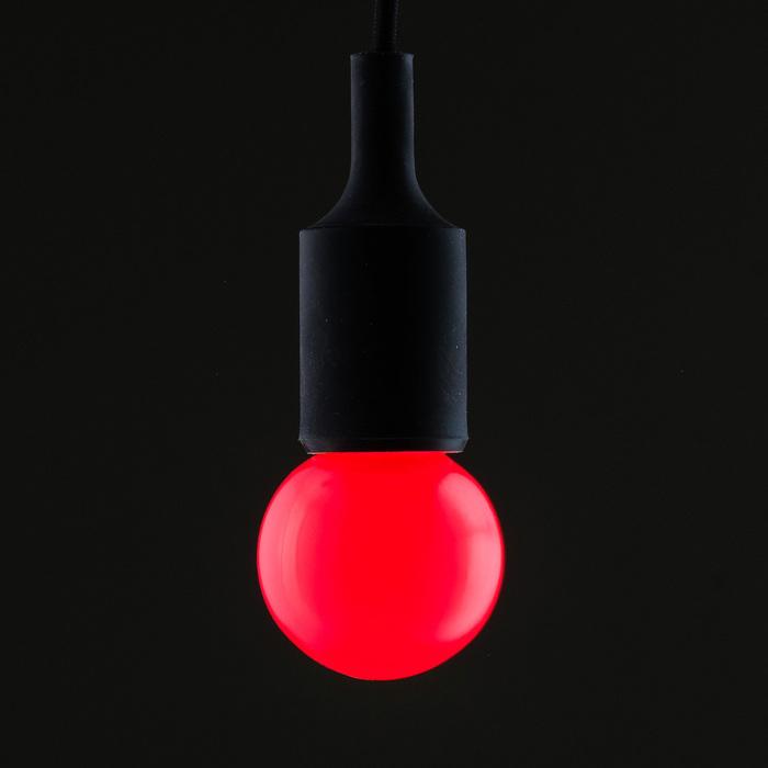 Лампа светодиодная декоративная, G60, 5 SMD2835, для белт-лайта, красный