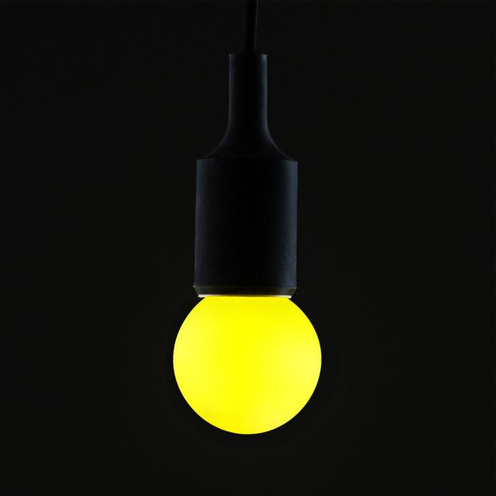Лампа светодиодная декоративная, G60, 5 SMD2835, для белт-лайта, желтый