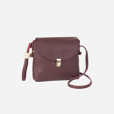 Bag, Department, with zipper, long strap, color Burgundy