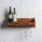 """Полка для вина """"Портофино"""", массив сосны, 50 х 15 х 15 см УЦЕНКА"""