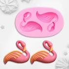 """Молд силиконовый 7,5х4,5х1,5 см """"Фламинго"""""""