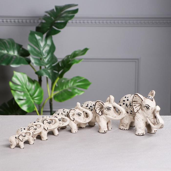"""Сувенир """"Белые слоны"""", золото, микс"""