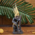 "Сувенир дерево ""Абориген и арфа"" 14х7,5х7,5 см"