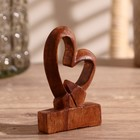"Souvenir wood ""Heart of love"" 10х8х2,5 cm"