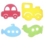 """Game set for children's bathing """"Transport"""", sponge - sponge, 4 PCs."""