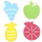 Game set for children's bathing Fruit, sponge - sponge, 4 PCs.