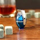 """Зажигалка электронная """"Граната"""", USB, спираль, синяя, 3х4х6 см"""
