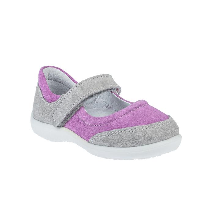 Туфли детские арт. 18-950-3 (серый, сиреневый) (р. 28)
