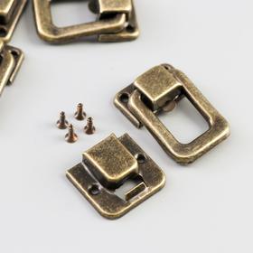 Castle metal caskets bronze + co. set of 5 PCs 3,6x2,5 cm